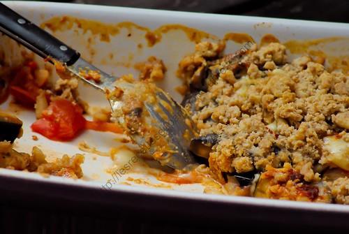 Crumble d'aubergines / Eggplant Crumble