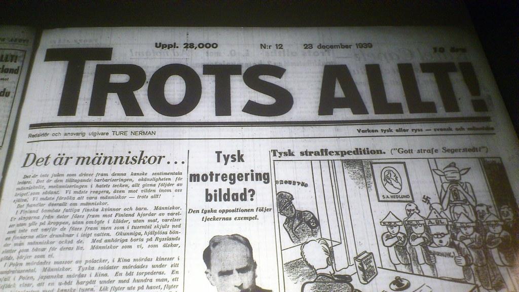 Trots Allt, Ture Nerman  23/12 1939
