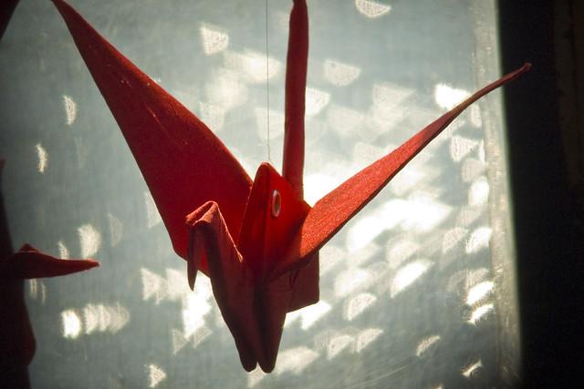 bokeh senbazuru...fabric origami