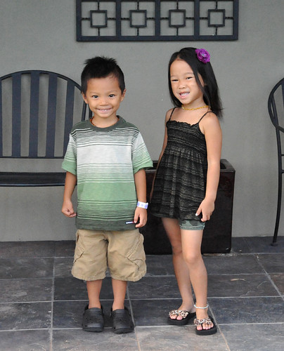 Delila and Henry first day of pre K