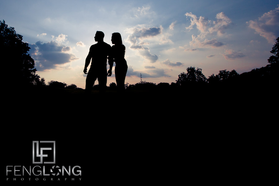 Silhouette Engagement Photo | Sophear & Jake | Freedom Park | Atlanta Engagement Photographer