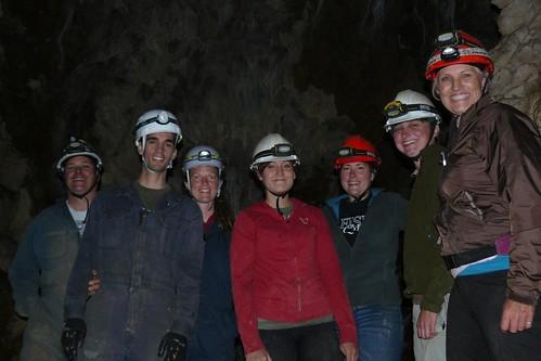 Crew caving at Horne Lake