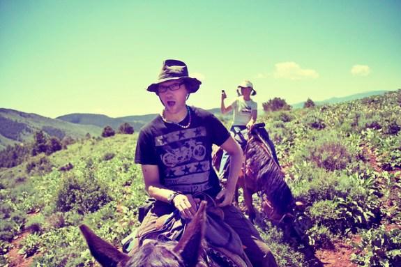 Black Mountain Colorado Dude Ranch bugfrog smile man horse