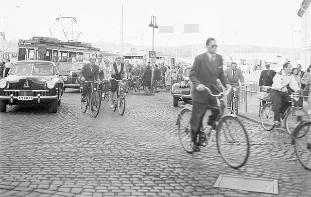 Cyclist in Stockholm 1948