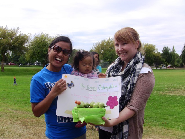 Stacey Langford judge at Vancouver community garden harvest festival