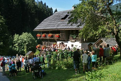 Kräuterweihe und Messe beim Türkhaus