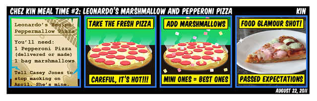 Chez Kin Meal Time #2: Leonardo's Marshmallow And Pepperoni Pizza...