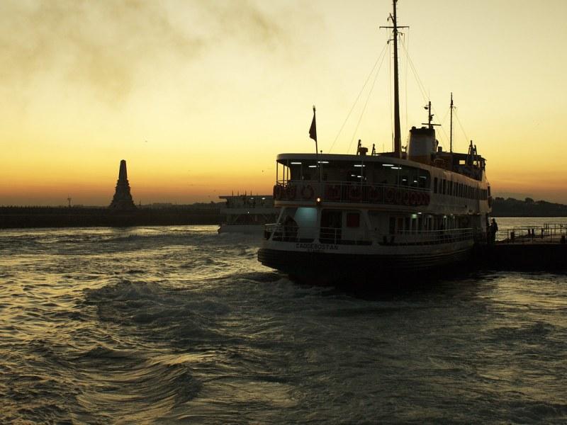 A sunset ferry