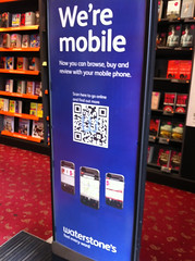 Waterstone's in-store ad for their mobile website