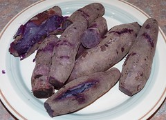 purple yam - cooked