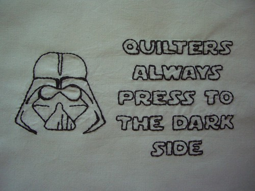 Darth Vader embroidery