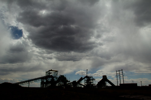 The abandoned Peabody Black Mesa coal mine