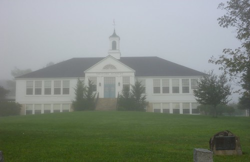 The White Building in Fog