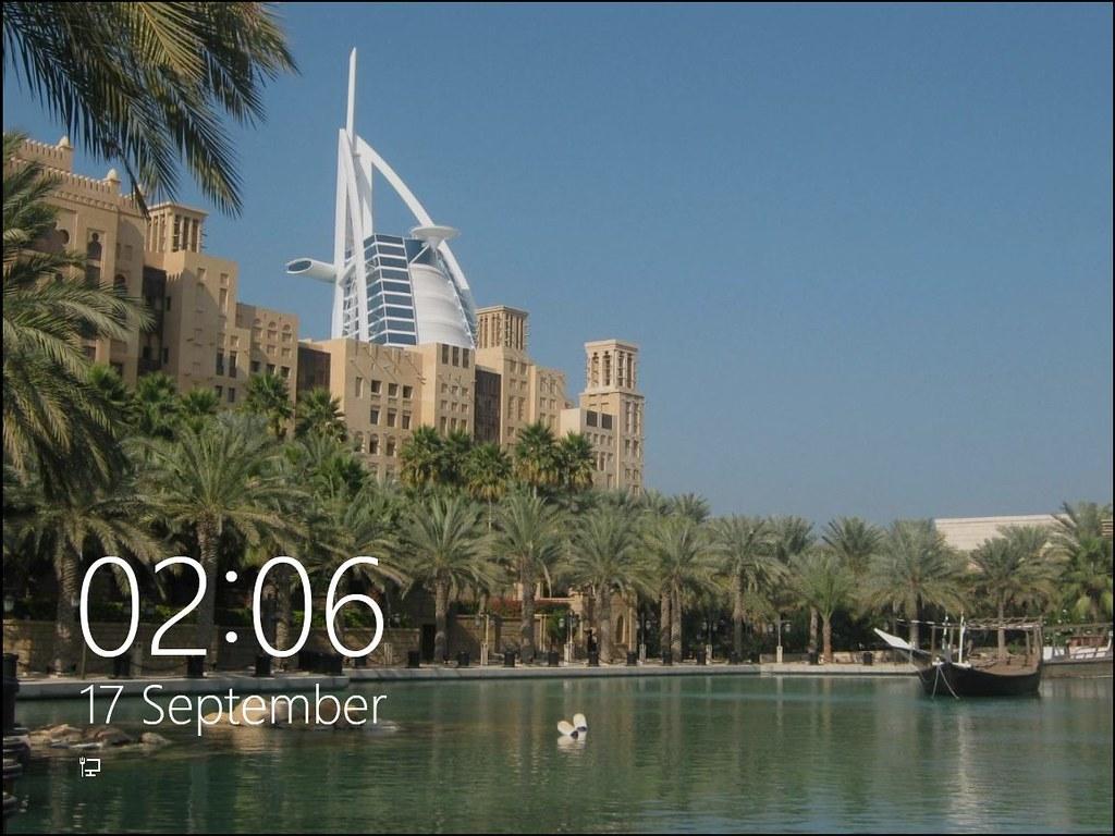 Windows 8 Developer Preview Lock Screen