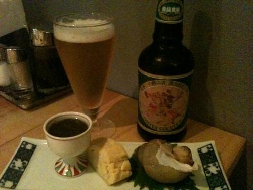 熊谷宿ビールと渋いお通し