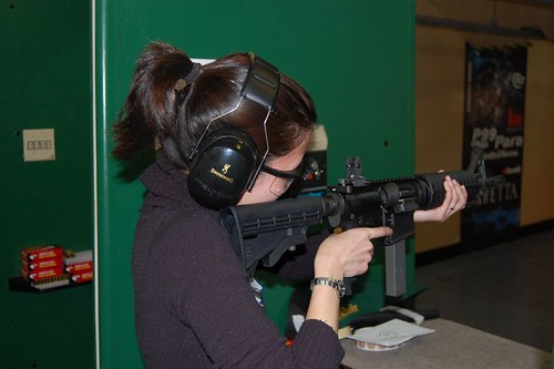Olivia enjoying a 9mm AR