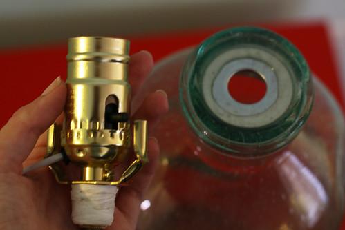 Glass Bottle Lamp: Step 2