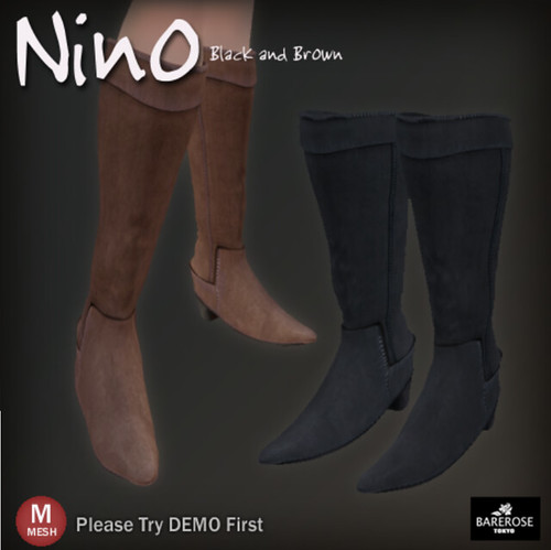 Bare Rose Nino Boots  MESH @ The Deck