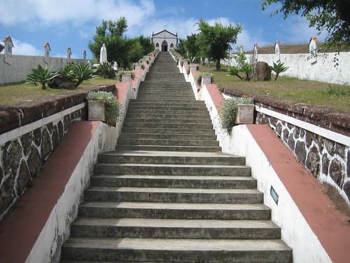 Escaleras a la érmita de Fátima