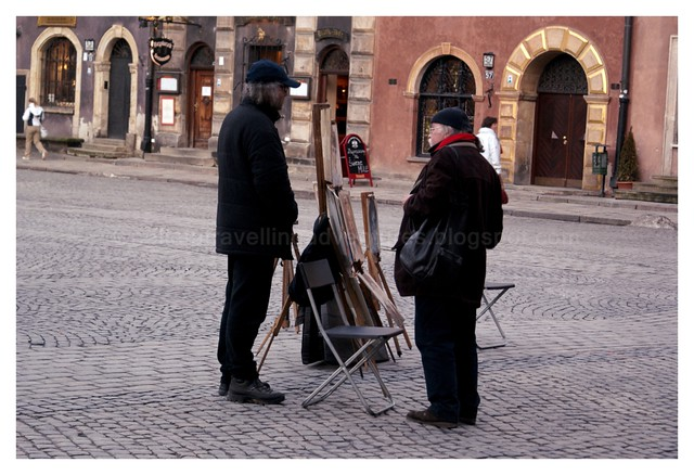Artists in Warsaw Old Town