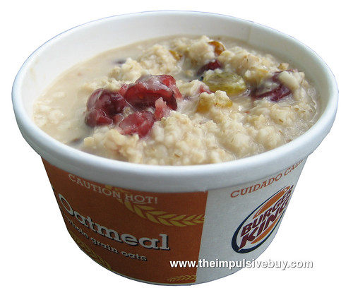 Burger King Oatmeal