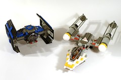 7150 TIE Fighter and Y-wing