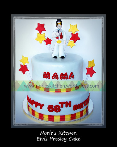 Norie's Kitchen - Elvis Presley Cake - whole by Norie's Kitchen