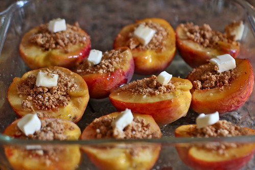 peaches stuffed with amaretti