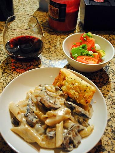 Pasta with Whiskey, Wine, and Mushrooms – Crazy Jamie