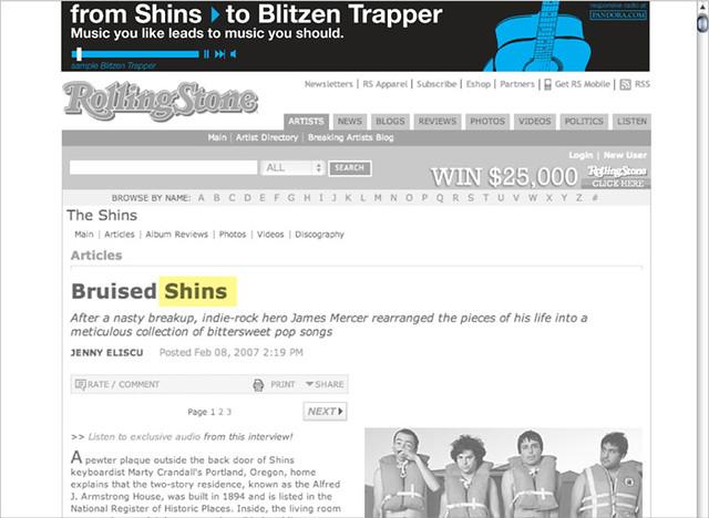 pandora shins to blitzen trapper
