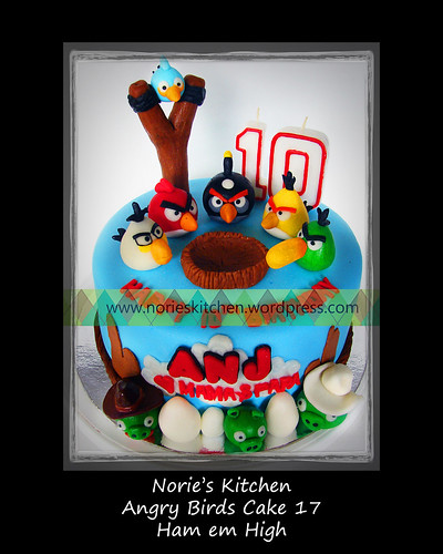 Norie's Kitchen - Angry Birds Cake 17 - Ham em Up by Norie's Kitchen