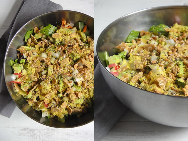 A giant salad chock-full of 36 grams of protein