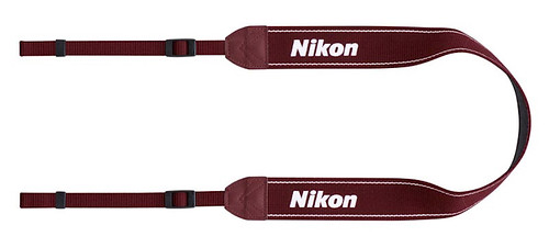 Red D3100 Neck Strap