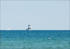 Poe Reef Light with Sail