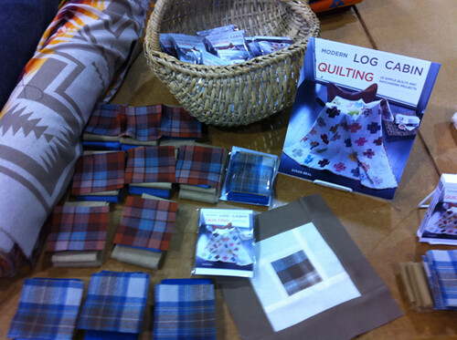 wool quilt kits for the book party!