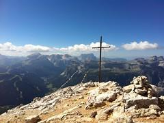 Gipfel Heiligkreuzkofel (Rosskofel, L'Ciaval, Sass dla Crusc)