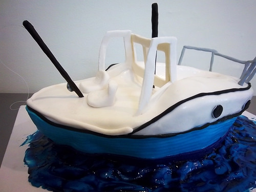 fishing boat cake by Yahairam