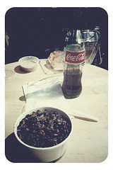 Cristianos y moros con Coke hecho en Mexico at Caña