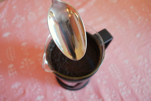 thank god my spoons are ginormous enough for this coffee press