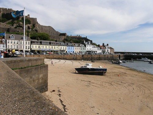 Gorey harbour and promenade.
