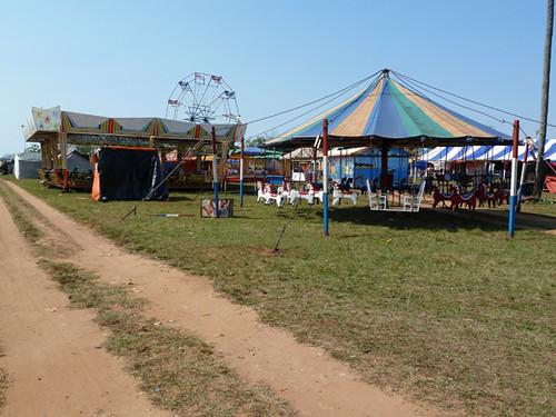 fun fair set up