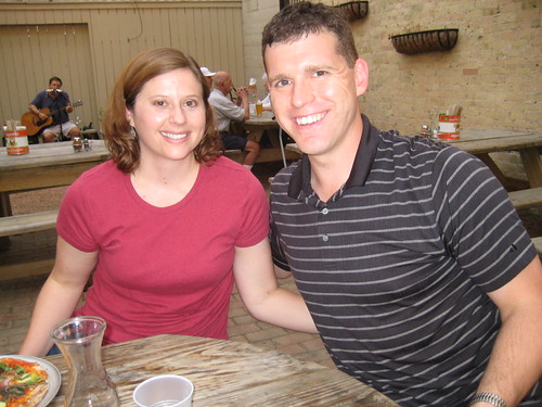 Karis and Chris at Pizzeria Piccola