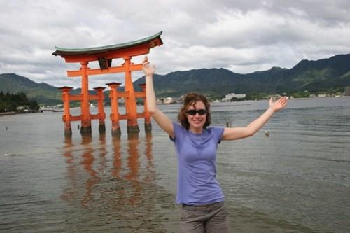Low tide torii