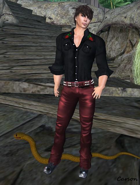 Hell Bop - Mack - Black Rose, sf design biker leather pants burgundy - mens,