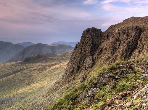 Pike's Crag with Kirk Fell Beyond