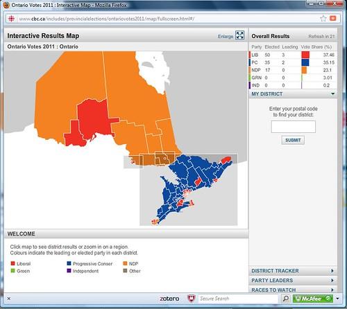 Ontario Votes 2011, 11:42
