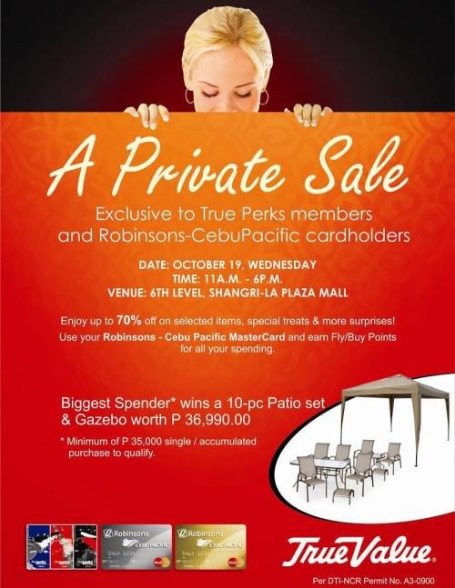 true value private sale