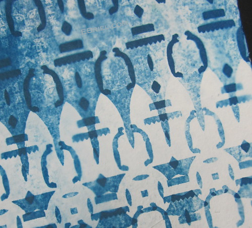 Cyanotype test: blue paper people