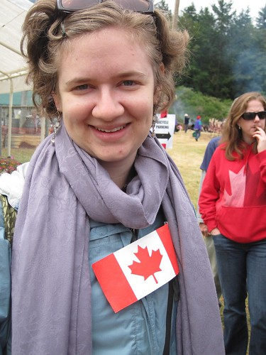 My wife Jodie, the Honorary Canadian