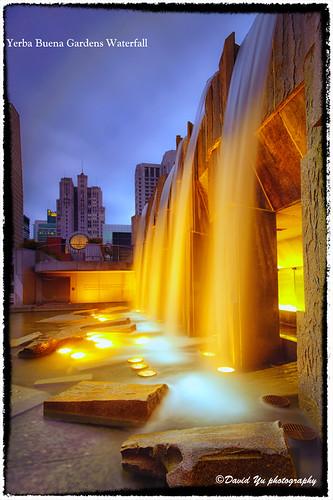 Yerba Buena Gardens Waterfall by davidyuweb